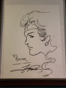 Signed drawing of Wonder Woman from George Perez