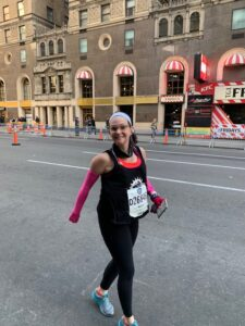 Beth walking after NYC half